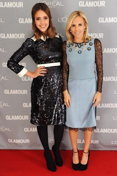 Tory Burch & Jessica Alba - could I be more obsessed with two people? no...