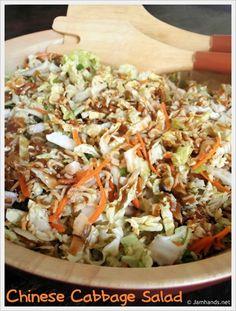Easy Chinese Cabbage Salad Recipe Momspark Net Mom Spark A Chinese Cabbage Salad, Napa Cabbage Salad, Cabbage Salad Recipes, Chinese Coleslaw, Napa Salad, Oriental Coleslaw, Asian Coleslaw, Cabbage Slaw, Vegetarian Recipes