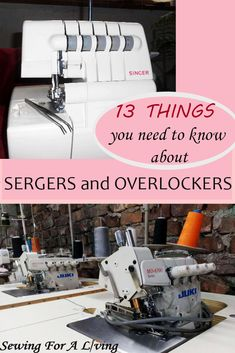 This is an upgraded post on everything you need to know about a serger sewing machine. You will get to know what is the difference between a serger and an overlocker, what to use the serger machine for and how to make a decision which one to buy. Serger Sewing Projects, Sewing Projects For Beginners, Sewing Hacks, Sewing Tutorials, Sewing Tips, Sewing Ideas, Sewing Blogs, Sewing Basics, Bernina Serger
