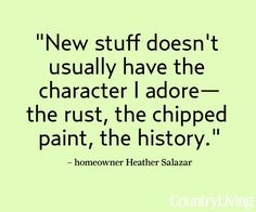 heather salazar quote from CountryLiving.com