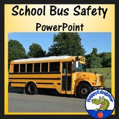 School Bus Safety PowerPoint by HappyEdugator Beginning Of The School Year, New School Year, School School, School Buses, Love Teacher, Teacher Pay Teachers, School Bus Safety, How To Get Followers, Back To School Activities