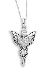 Angel of Blessing Antiqued Sterling Silver Pendant $65.00 http://www.celebrateyourfaith.com/Angel-of-Blessing-Antiqued-Sterling-Silver-Pendant-P4675C1033.cfm