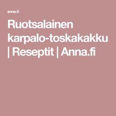 Ruotsalainen karpalo-toskakakku | Reseptit | Anna.fi Anna
