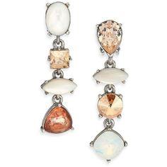 Oscar de la Renta Crystal & Mother-Of-Pearl Clip-On Drop Earrings ($190) ❤ liked on Polyvore featuring jewelry, earrings, apparel & accessories, mother of pearl earrings, oscar de la renta earrings, crystal jewelry, mother of pearl drop earrings and oscar de la renta jewelry