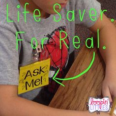 Ask Me Badges/Necklaces truly help with classroom management while pulling small groups. Students go to the Ask Me friends with questions instead of interrupting the teacher