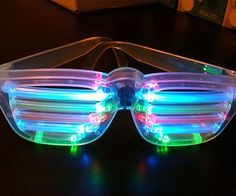 These light up shutter shades will transport you back to the decade of bad fashion - the eighties - but with the excellent modern technology of LED lights. Just put these on shutter shades on, turn off the lights, and party like it's 1989.