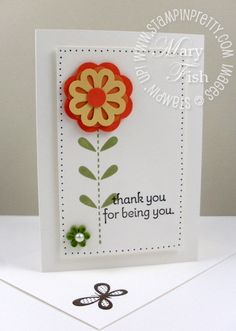 Stampin up rubber stamp blossom bouquet triple layer punch