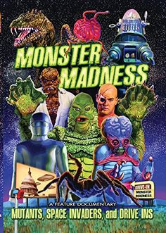 Shop Monster Madness: Mutants, Space Invaders, and Drive-Ins [DVD] at Best Buy. Find low everyday prices and buy online for delivery or in-store pick-up. Amazon Instant Video, Main Theme, Space Invaders, Halloween Movies, Silver Age, Cool Things To Buy, Stuff To Buy, Golden Age