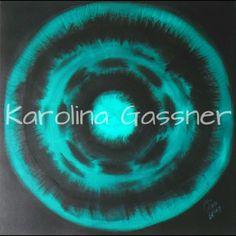 """Green Circles"" by Karolina Gassner © acrylic on canvas, cm. Acrylic Paintings, Circles, Canvas, Green, Tela, Canvases"