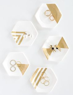 hexagon-ring-dishes-diy