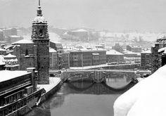 Bilbao bajo la nieve, 1955.