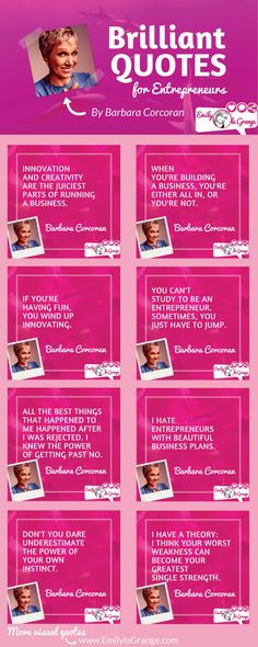 Brilliant quotes for Entrepreneurs by @BarbaraCorcoran