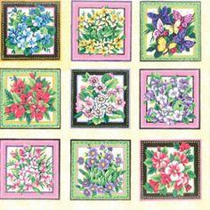 Fabriquilt Wildflowers Framed Flower Blooms Panel
