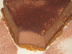 Tarta de cuajada con chocolate de naranja | Thermomix