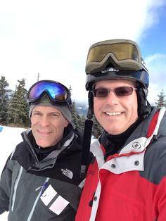 Darcy Cook - Dr Layman and Scott Cook are tearing up the mountain. Having a great day of skiing