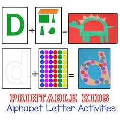 These Printable Alphabet Letters Activities and crafts are perfect for toddlers and preschoolers to explore their letters.