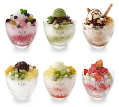 These are all quite delicious (except maybe the green tea bingsu) although they are quite expensive. Description from greenwalledtower.wordpress.com. I searched for this on bing.com/images
