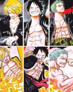 The monster trio. Sanji, Luffy, Zoro One Piece Meme, One Piece Series, One Piece 1, Zoro One Piece, One Piece Images, Zoro Nami, Roronoa Zoro, Manga Anime, Best Anime Shows