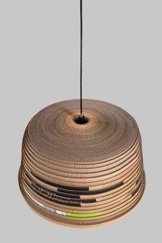 beute lamp, Lampenschirm, recyceling, wellpappe, unikat, herrwolke, passagen 2011, michael konstantin wolke 04