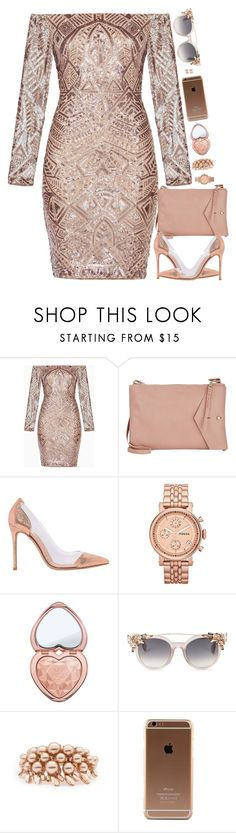 """""""Untitled #7229"""" by miki006 ❤ liked on Polyvore featuring BCBGMAXAZRIA, Thakoon, Gianvito Rossi, FOSSIL, Too Faced Cosmetics, Jimmy Choo, Ellen Conde and Anita Ko"""