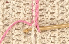Beginners class: joining shapes together with either the slip stitch seam or the double crochet seam.