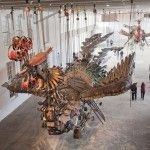 Xu Bing Arrives at Mass MoCA With His 12-Ton Birds Made of Construction Equipment