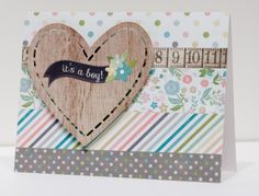 Heart - Its a Boy card made with the Silhouette from Scrapbook Update