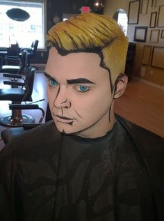 Comic Book Costume Makeup For Men. Cool!