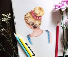 #art #talent #creativity #coloredpencil #bun #vivid