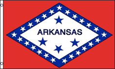 Arkansas Flag   123Flag Our 3x5ft Nylon Arkansas Flag has header tape and 2 metal grommets Flag is dye-sublimated with beautiful bold colors. Printed on one side all the way through the fabric.  Double-stitched around all edges with 4 rows of stitching on fly edge. #arkansas #flag #123flag