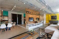 INTERIORES - R&C Arquitetura Home Theaters, Interior Exterior, Interior Architecture, Interior Design, Art Decor, Home Decor, Colorful Interiors, Industrial Design, Dining Bench