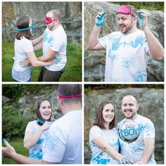 gender reveal paint fight