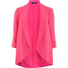 Evans Plus Size Pink Crepe Jacket ($47) ❤ liked on Polyvore