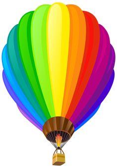 free clip art of a fun rainbow striped hot air balloon sweet clip rh pinterest com hot air balloon clipart black and white clip art images of hot air balloon