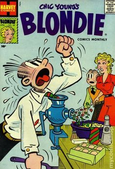 Harvey Blondie comic books in the late 40s - mid 60s