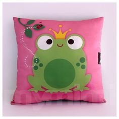 Aww cute for my lil munchkins room decor.. https://www.etsy.com/listing/62234450/12-x-12-frog-pillow-decorative-pillow