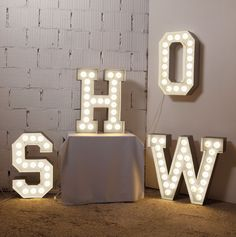 VEGAZ LED letter lights | Seletti