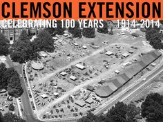 Aerial view of Bowman Field during Farm & Home Week. 1956. Image courtesy of Clemson University Speical Collections. #ClemsonExt100