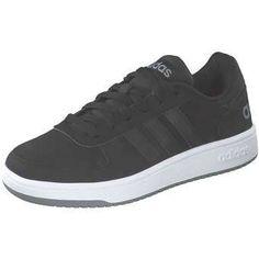 more photos f1edb 68304 adidas VS Hoops 2.0 Sneaker Herren schwarz   04059323843807 Synthetik  schwarz Retro Basketball Sneaker lässige flache
