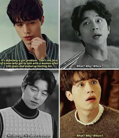 Lol they're a perfect pair those two! Korean Drama Funny, Korean Drama Quotes, K Drama, Drama Fever, Lee Dong Wook, Korean Actors, Korean Dramas, Goblin The Lonely And Great God, Goblin Korean Drama
