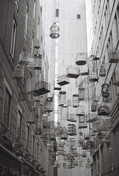 forgotten songs art installation - angel place, sydney via beautifully, suddenly: sydney | on b film