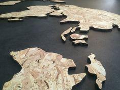 Wereldkaart ''Classy'' - Hout - OSB plaat - Formaat M | houten wereldkaart | wooninspiratie | wereldkaart muur |