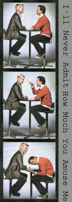 Michael Weatherly and Mark Harmon..I can't even imagine what the set must be like with those two
