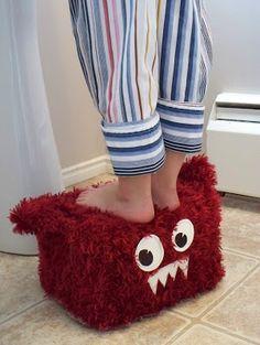 Monster Covered Stepping Stool
