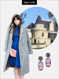 Travel Destination: The Magic Castle, Los Angeles   Outfit: There is a strict dress code for entry, which means it's time to upgrade to your best cocktail ensemble. Finish off the look than with opulent earrings.   Châtelaine Double Drop Earrings with Lavender Amethyst, $1,950; at David Yurman (Sponsored)