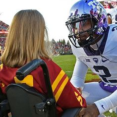 TCU football: Trevone Boykin's on field meeting with little girl before Iowa State game