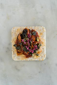 A Week of Putting Things on Rice Cakes    - Game-changer: I stumbled on new-to-me THIN rice cakes the other day, and have been using them as the perfect, crunchy snack vehicle in the days since. Pictured are a handful of topping ideas. - from 101Cookbooks.com