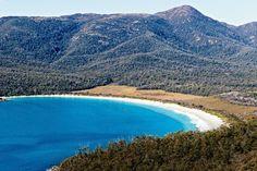 View of Wineglass Bay, Tasmania, Australia Tasmania Road Trip, Tasmania Travel, Australia Tourist Attractions, Destin Beach, Travel News, Island Life, List, Australia Travel, Places To See