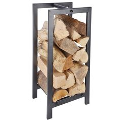Houtrek zwart metaal een stoer design houtrek om jouw haardhout stijlvol in op te bergen. Dit zwarte houtrek voelt zich thuis in elke interieurstijl!