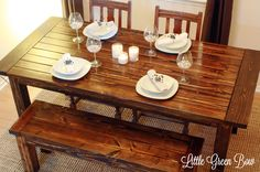 I'm totally making this while I'm on break from college! This website gives you step by step directions (with detailed pictures) on how to make this exact table. I love Pottery Barn Tables, and it just so happens I need a new table :-)